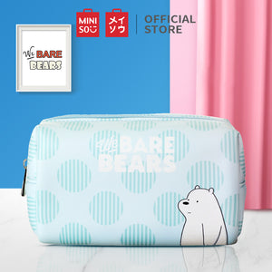 Miniso Official Tas kosmetic We Bare Bears-Rectangle Cosmetic Bag - Random Pick