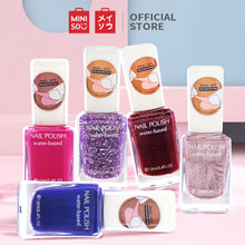 Load image into Gallery viewer, MINISO Kutek Cat Kuku Peel Off Kutex Awet Nail Polish Water Based