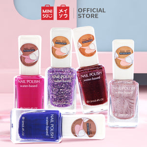 MINISO Kutek Cat Kuku Peel Off Kutex Awet Nail Polish Water Based
