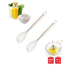 Load image into Gallery viewer, Miniso Official Whisk Pengaduk Telur Stainless Steel Whisk