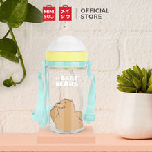 Load image into Gallery viewer, MINISO Botol Minum Air Plastik Sedotan We Bare Bears Lucu Anak 400ml