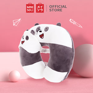 MINISO We Bare Bears Bantal Leher Tidur Bantal Sandar Kepala Bentuk V Travel Neck Pillow