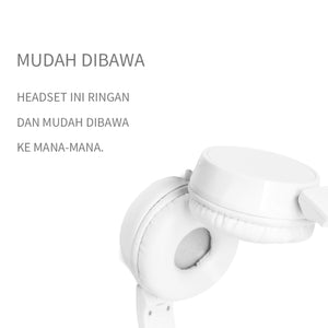 MINISO Headset Earphone Headphone  Gaming Dilipat Original Stereo Kebisingan Membatalkan Portable Simple