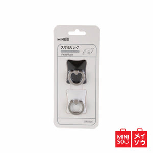 Miniso Official Zinc Alloy Ring Holder for Mobile Phone (Black+White) (05B2-1927MN)
