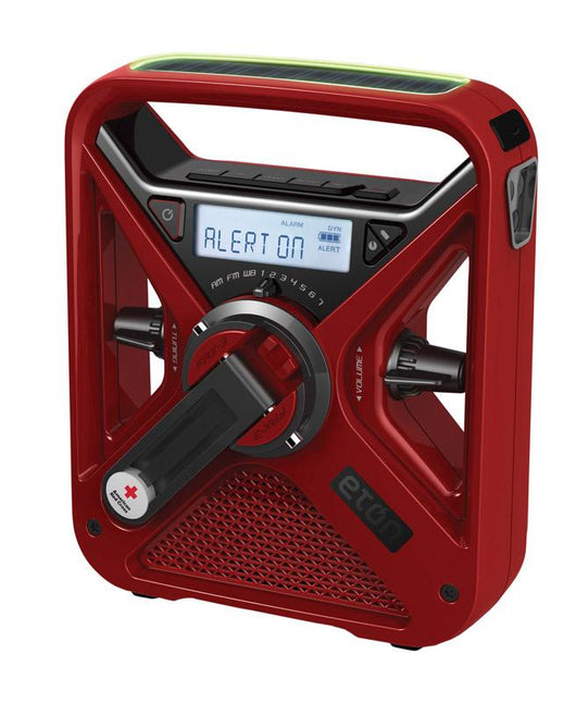 Eton Red Weather Alert Radio Flashlight - Digital Battery-Operated