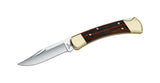 Hunting Buck Knife - 110 Folding Hunter Brown - 420 HC Stainless Steel