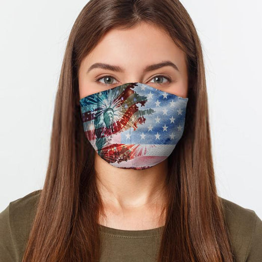 July 4th Patriotic Face Cover