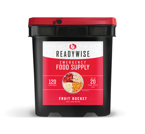 Freeze Dried Fruit Bucket from ReadyWise - 120 Servings