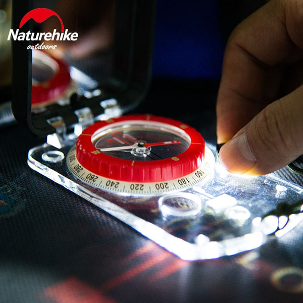 Luminous Compass from NatureHike - Multi-Function With Mirror