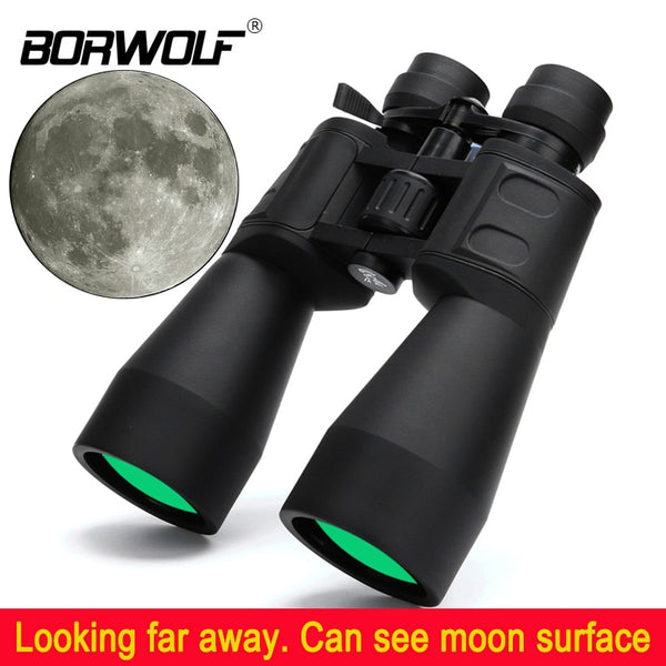 High Magnification Long-Range Binoculars from Borwolf with 10-380X100  Zoom