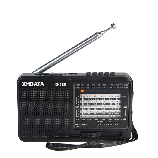 Black Portable Radio - AM FM SW 12 Bands with DSP/MP3 Music Player