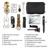 14 in 1 Outdoor Emergency Survival Gear Kit Camping Tactical Tools