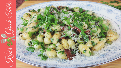 Gnocchi with Bacon and Asparagus