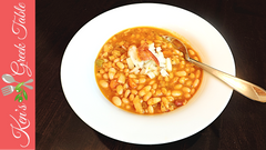 Greek Bean Soup with Bacon