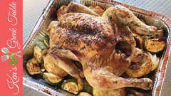 roast chicken with veggies