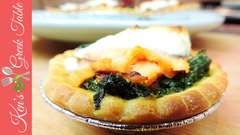 Spinach, feta and smoked salmon tarts