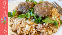 greek meatballs & orzo
