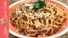 spaghetti & greek meat sauce