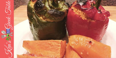 greek style stuffed peppers with couscous