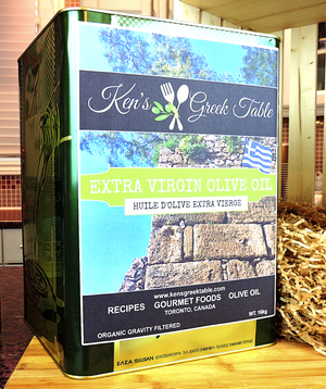 Ken's Organic Unfiltered Extra Virgin Olive Oil from Greece - 16kg Tin