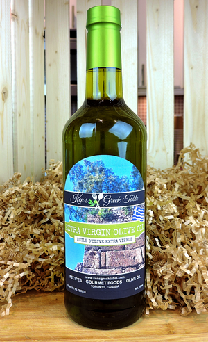 Ken's Organic Unfiltered Extra Virgin Olive Oil from Greece - 750ml Glass Bottle