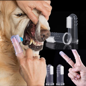 New Rubber Pet Finger Toothbrush Dog