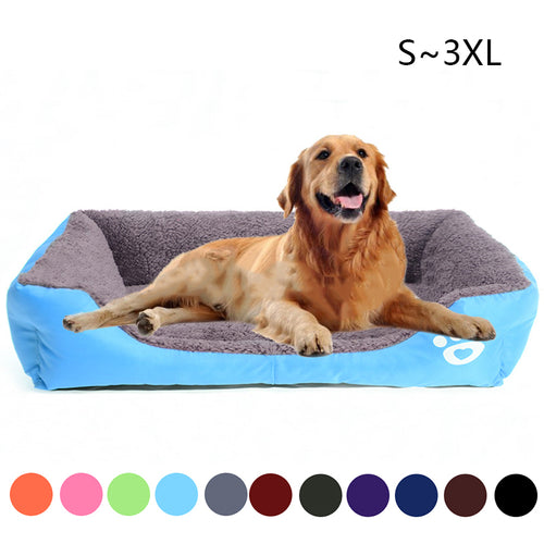 Dogs Soft Bed Pet House S-3XL Waterproof Bottom
