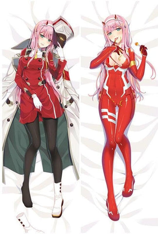 Dakimakura Zero Two -Uniforme et tenue de combat- Darling in The Franxxx