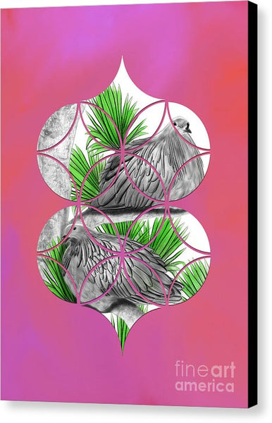 Heart Nicobar Pigeon - Canvas Print