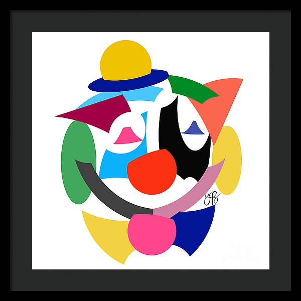 360 - Clown - Framed Print