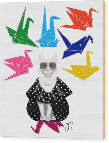 Boss Babe Origami Birds - Wood Print