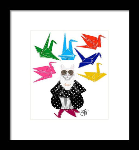 Boss Babe Origami Birds - Framed Print
