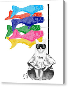 Boss Babe Windsock Fish - Canvas Print