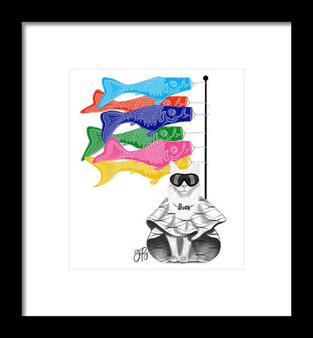 Boss Babe Windsock Fish - Framed Print