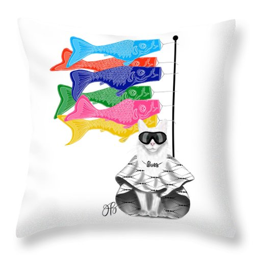 Boss Babe Windsock Fish - Throw Pillow