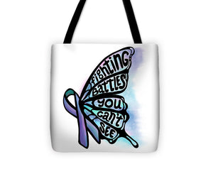 Fighting Battles Butterfly - Tote Bag