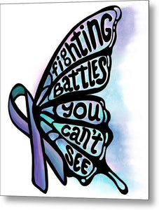 Fighting Battles Butterfly - Metal Print