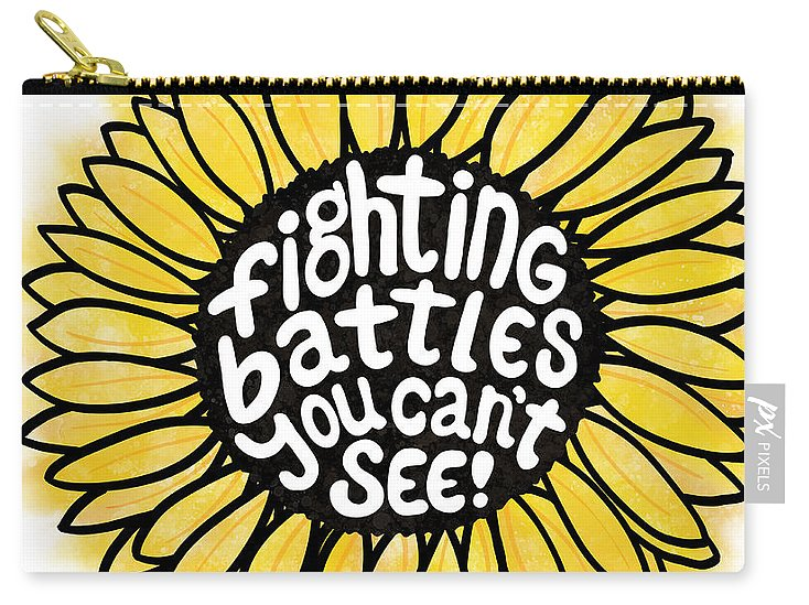 Fighting Battles Sunflower - Carry-All Pouch