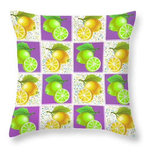 Lemon Crush - Throw Pillow