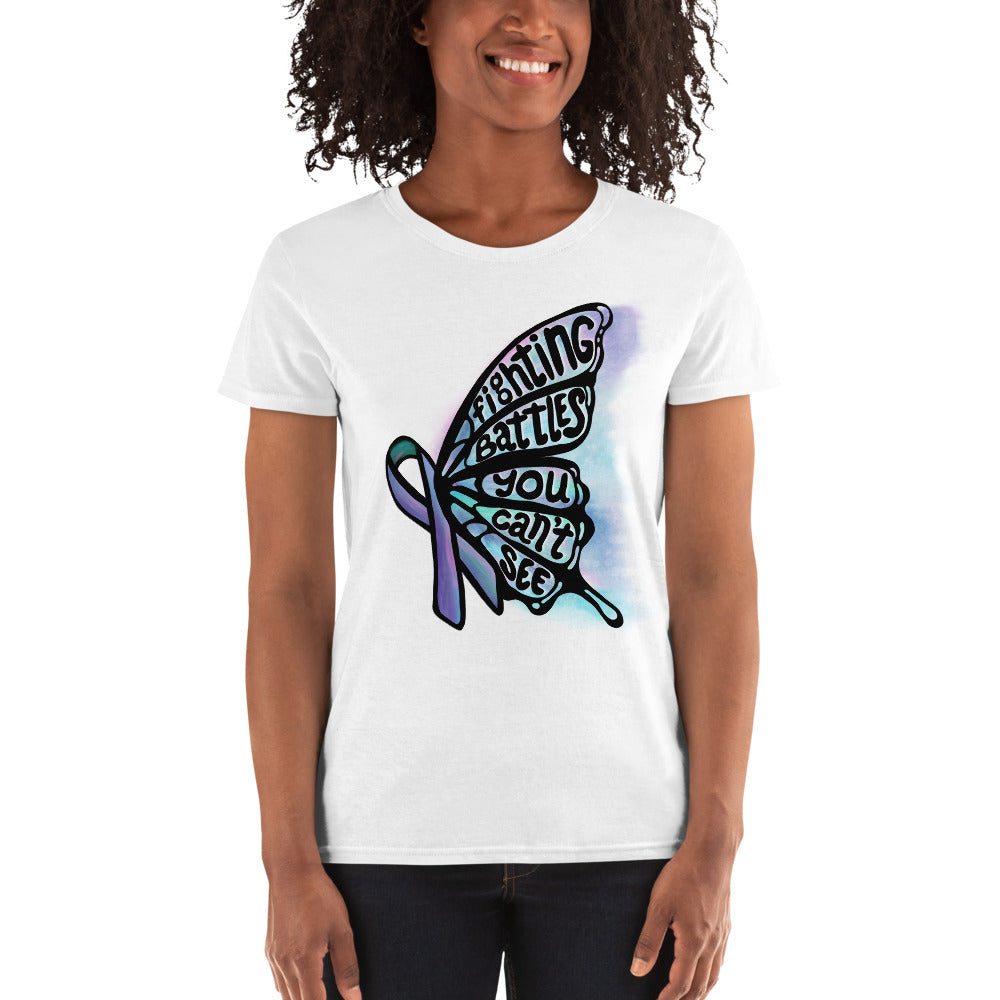 Fighting Battles Butterfly - Women's Scoop Neck Tee