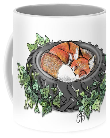Tired Fox - Inktober - Mug