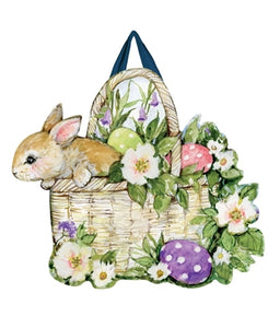 Easter Bunny Basket Door Decor