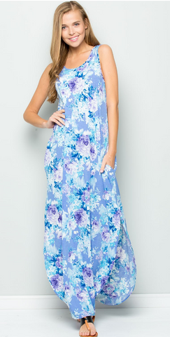 Sweet Thoughts Lavender Floral Maxi Dress