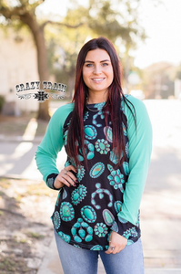 Crazy Train Turquoise Junkie Top