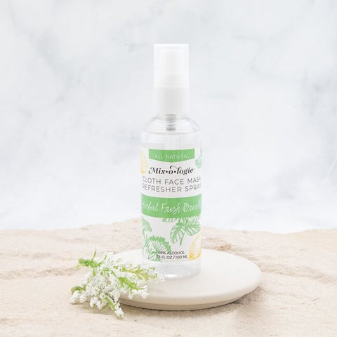 Mixologie Face Mask Refresher Spray - Herbal Mint Fresh Breath Scent