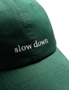 IDLE CAP - DARK GREEN/WHITE