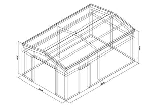 16 x 25 x 10 Steel Building Kit