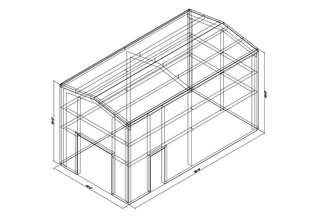 16 x 30 x 16 Steel Building Kit