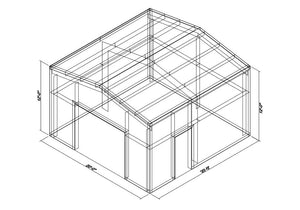 20 x 20 x 12 Steel Building Kit