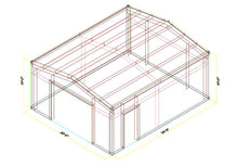 Load image into Gallery viewer, 20 x 24 x 10 Steel Building Kit